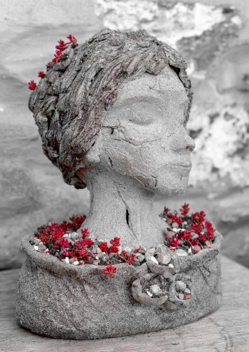 Flowering Head - Garden Planter