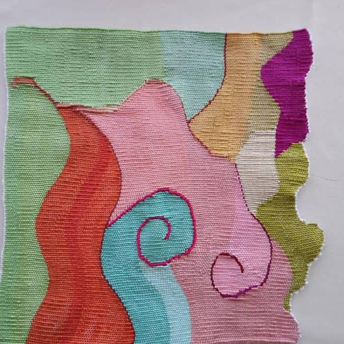 warp and weft woven in cotton