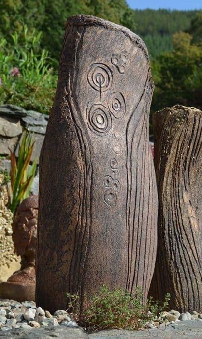 Sculptural Standing Stone Planter